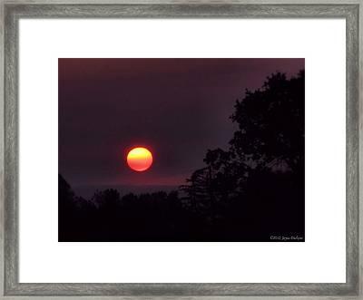Sunrise  09 25 12 Framed Print by Joyce Dickens