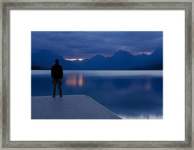 Sunrise At Apgar Framed Print by Darlene Bushue
