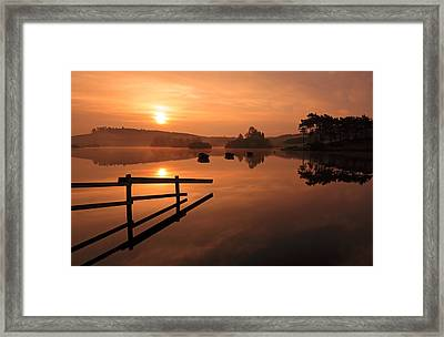 Sunrise At Knapps Loch Framed Print by Grant Glendinning