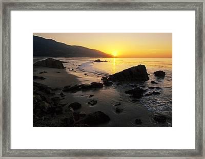 Sunrise At Leo Framed Print by Ron Regalado