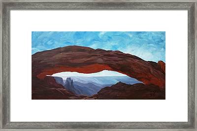 Sunrise At Mesa Arch Framed Print by Estephy Sabin Figueroa