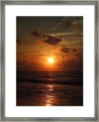 Sunrise At Myrtle Beach South Carolina Framed Print by Chad and Stacey Hall