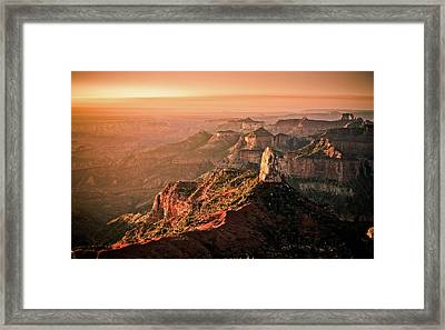 Sunrise At Point Imperial, Grand Canyon North Rim Framed Print by California CPA