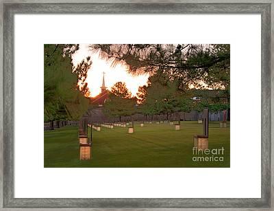Sunrise At The Alfred P Murrah Memorial II Framed Print by Tamyra Ayles