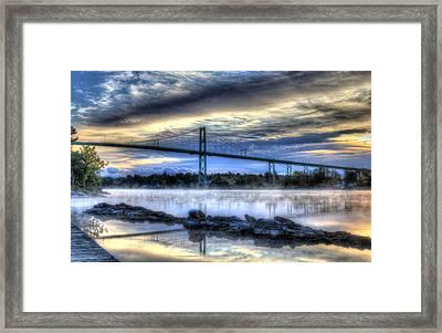 Sunrise At The Bridge Framed Print by Sharon Batdorf