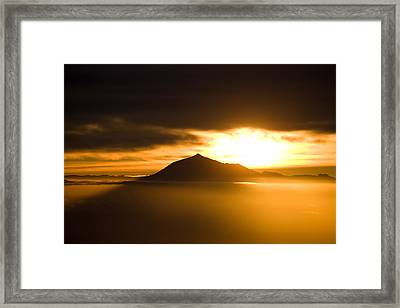 sunrise behind Mount Teide Framed Print by Ralf Kaiser