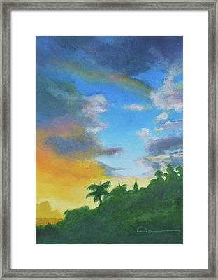 Sunrise Framed Print by Diane Cutter