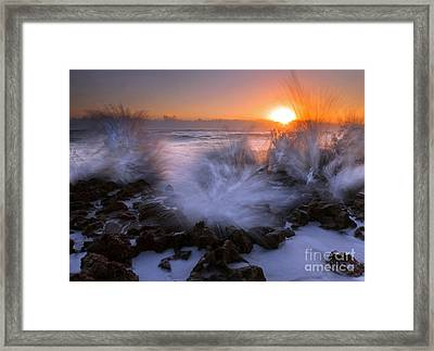 Sunrise Explosion Framed Print by Mike  Dawson