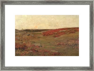 Sunrise In Autumn Framed Print by Childe Hassam