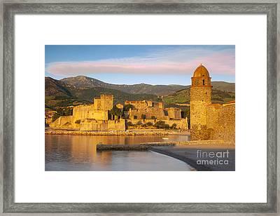 Sunrise In Collioure Framed Print by Brian Jannsen