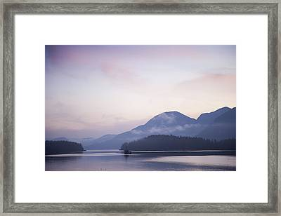 Sunrise In The Great Bear Rainforest Framed Print by Taylor S. Kennedy