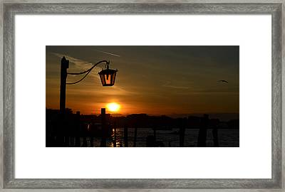 Sunrise In Venice Framed Print by Barbara Walsh