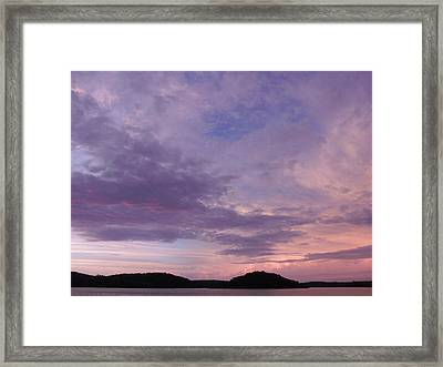 Sunrise Lake Colors Framed Print by Brian  Maloney