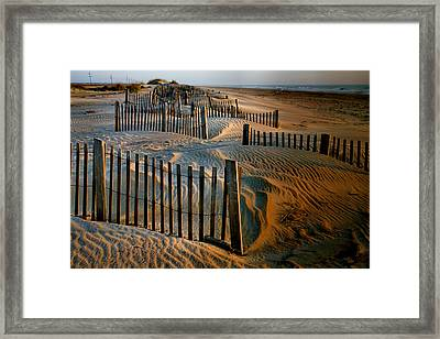 Sunrise On Hatteras II Framed Print by Steven Ainsworth