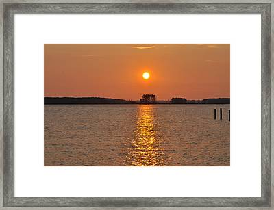 Sunrise On St. George's Island Framed Print by Bill Cannon