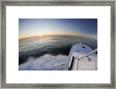 Sunrise On The Florida Coast Luhrs 36 Sportfisher Framed Print by Dustin K Ryan