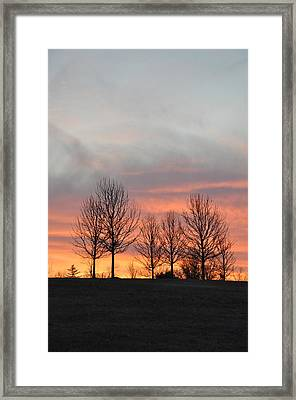 Sunrise On The Hill Framed Print by Bill Cannon