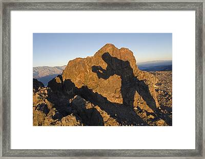 Sunrise Over Death Valley From Dantes Framed Print by Rich Reid