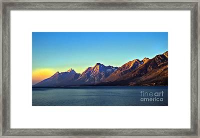Sunrise Over Jackson Lake Framed Print by Robert Bales