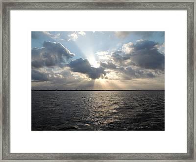 Sunrise Over Keaton Beach Framed Print by Marilyn Holkham