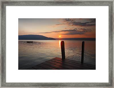 Sunrise Over Keuka Vi Framed Print by Steven Ainsworth