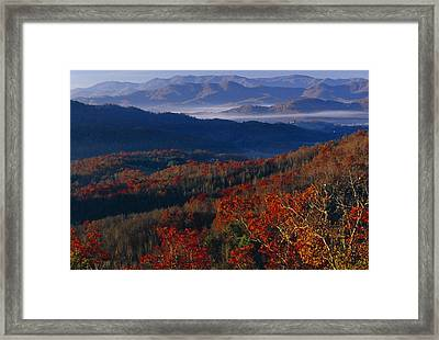 Sunrise View From Meadow Creek Lookout Framed Print by Raymond Gehman