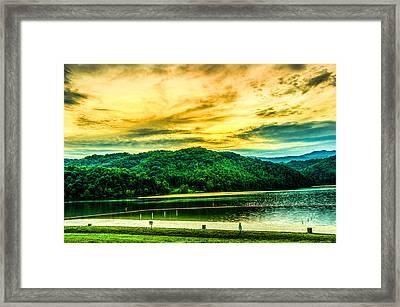 Sun's Fire Framed Print by Ken Beatty