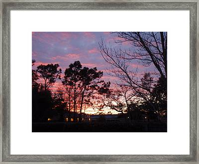 Sunset 7 Framed Print by Michael Milanak