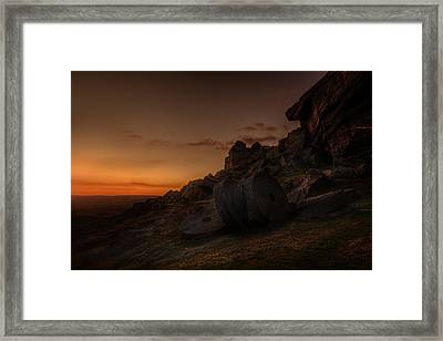 Sunset Afterglow Framed Print by Andy Astbury