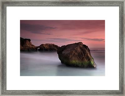 Sunset At Arch Rock Framed Print by Dave Storym
