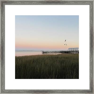Sunset At Charleston Bay 2 Framed Print by Cathy Lindsey
