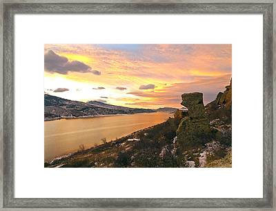 Sunset At Horsetooth Dam Co. Framed Print by James Steele