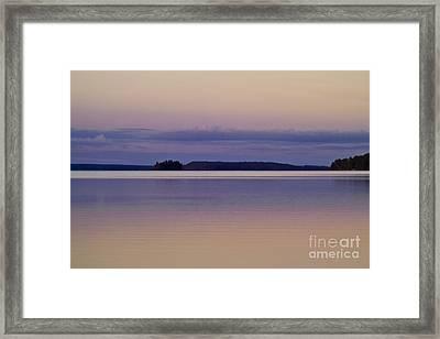 Sunset At Lake Muojaervi Framed Print by Heiko Koehrer-Wagner