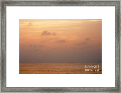 Sunset At Sea Framed Print by Susan Isakson