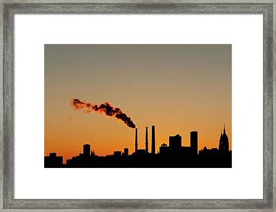 Sunset At Skyline Framed Print by Copyright by Harris Graber