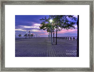 Sunset At The Plaza Framed Print by David Bearden