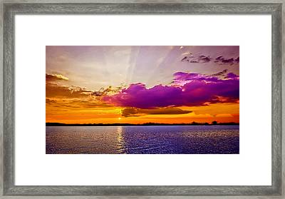 Sunset Framed Print by Bob and Nadine Johnston