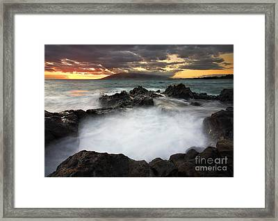 Sunset Boil Framed Print by Mike  Dawson