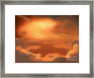 Sunset Clouds Framed Print by Pixel Chimp