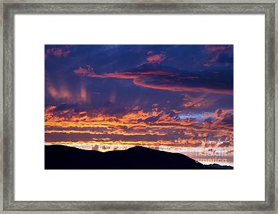 Sunset Framed Print by David R Frazier and Photo Researchers