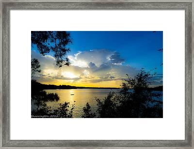 Sunset Fishing Framed Print by Shannon Harrington