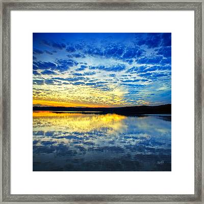 Sunset From Hwy 60 Framed Print by Steven Llorca