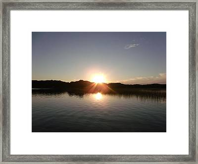 Sunset Glass At The Lake Framed Print by Brian  Maloney