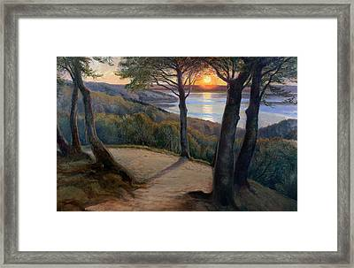 Sunset Framed Print by Hans Agersnap