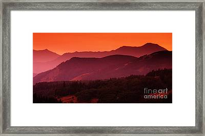 Sunset In Alberta Framed Print by Bob Christopher