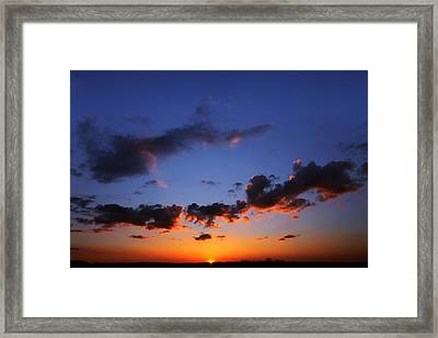 Sunset In Ithaca New York Framed Print by Paul Ge