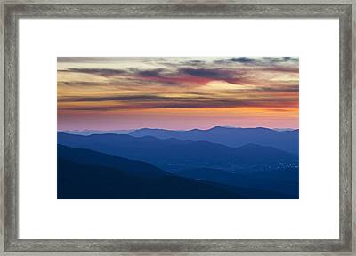 Sunset In Shenandoah National Park Framed Print by Pierre Leclerc Photography