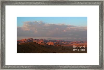 Sunset In The Syrian Desert Framed Print by Issam Hajjar