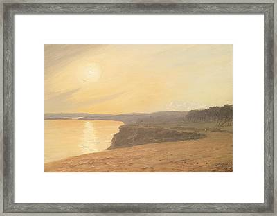 Sunset Framed Print by James Hallyar