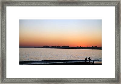 Sunset Framed Print by Joe Fernandez
